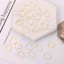 Aobei Pearl, 20 PCS from the Sale, 18K Gold Plated Hollow Heart Charm for Jewelry Making, Jewelry Findings, DIY Jewelry Material, ETS-K330