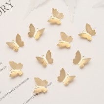 Aobei Pearl, 20 PCS from the Sale, 18K Gold Plated Butterfly Charm for Jewelry Making, Jewelry Findings, DIY Jewelry Material, ETS-K364