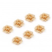 Aobei Pearl ,10 PCS From The Sale, 18K Gold Plated flower Charm Pendant ,Dangle Pendant For Jewelry Making, Jewelry Findings, DIYJewelry Material, Making Supplies ETS-K446