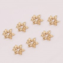 Aobei Pearl ,10 PCS From The Sale, 18K Gold Plated Sycamore Leaf Pendant ,Maple Leaf Dangle Pendant For Jewelry Making, Jewelry Findings, DIY Jewelry Material, Making Supplies ETS-K447