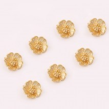 Aobei Pearl ,6 PCS From The Sale, 18K Gold Plated Flower Pendant ,Dangle Pendant For Jewelry Making, Jewelry Findings, DIY Jewelry Material, Making Supplies ETS-K448