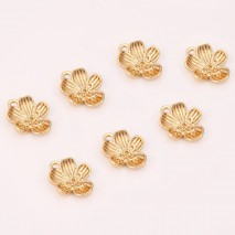 Aobei Pearl ,6 PCS From The Sale, 18K Gold Plated Flower Pendant ,Dangle Pendant For Jewelry Making, Jewelry Findings, DIY Jewelry Material, Making Supplies ETS-K449