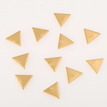 Aobei Pearl ,20PCS From The Sale, 18K Gold Plated Triangle Medallion Dangle Pendant For Jewelry Making, Jewelry Findings, DIY Jewelry Material, Making Supplies ETS-K469