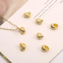 Aobei Pearl, 6 PCS from the Sale, 18K Gold Conch Shell Charm for Jewelry Making, Jewelry Findings, DIY Jewelry Material, ETS-K564