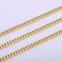 Aobei Pearl, 1 Meter from the Sale, 18K Gold Plated Link Chain for Jewelry Making, Jewelry Findings, DIY Jewelry Material, ETS-K613