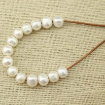 Aobei Pearl, 10 Pieces from the Sale, 2.5 mm Large Hole Loose Freshwater Pearl in Diameter 11-12 mm and Potato Shape, ETS-L0065