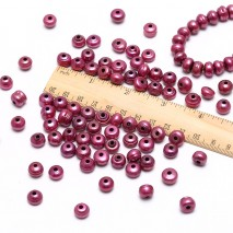 30 pieces 2.5mm large hole freshwater pearls, 10-11mm big button loose pearl beads, loose freshwater pearl, lake pearls, ETS-L0048