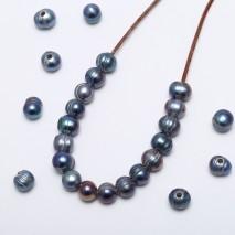 20 pcs  2.5 mm large hole freshwater pearls, 10-11 potato loose pearl beads, loose freshwater pearl, ETS-L0067