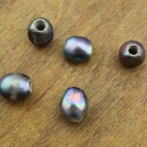 Aobei Pearl - 30pcs peacock baroque pearl,freshwater pearl,loose pearl ,2.5 mm hole pearl ,leather loose pearl,9-10 mm baroque pearls,ETS-L0080