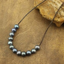 Aobei Pearl, 10 Pieces from the Sale, 10-11 mm Diameter Black Potato Freshwater Pearl with Large Hole, ETS-L0085