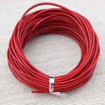 Red leather cord,genuine leather cord,necklace and bracelet round leather cord,original leather color,natural leather cord,leather cord,10 yards,ETS-P010