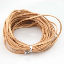 Aobei Pearl, 10 Yards from the Sale, Flat Genuine Leather Cord, 2.5mm * 1.5mm Leather Cord for Jewelry Making, Lather Cord for Necklaces or Bracelets, Genuine Light Brown Leather Cord or Black Leather Cord, ETS-P011 & ETS-P012