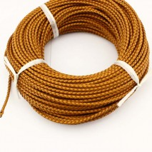 10yards, Round leather cord,yellow leather cord,round leather cord,3.0mm original leather color,natural leather cord,leather cord,ETS-P017