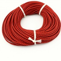10 yards,Real round leather cord,3.0mm-6.0mm genuine leather cord,leather string for jewelry making,leather finding,red leather cord by yard,ETS-P019