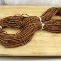 Aobei Pearl, 5 Yards from the Sale, Genuine Worn Leather Cord, Brown Flat Leather Cord, ETS-P166