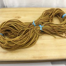 Aobei Pearl, 5 Yards from the Sale, Natural Genuine Leather Cord in 3.0 mm * 3.5 mm, ETS-P167