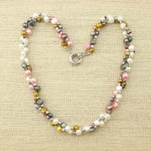 6-7 mm baroque pearls necklace,19.7'' women pearls necklace,genuine freshwater pearls,ETS-S071
