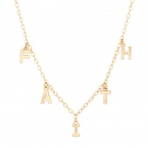 Aobei Pearl,18k gold plated link chain,dainty brushed letter dangling Necklace,Fashion Adjustable necklaces,Jewelry for Women Necklace, ladies gifts ETS-S1053