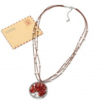 pearls natural coral pendants necklace ETS-S175