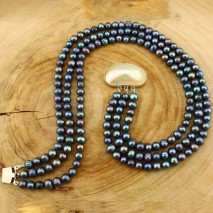 Layered necklace, pearl necklace, pearl beaded necklace, beaded necklace, ETS - S260
