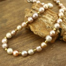 11-12 mm Edison pearl beaded necklace, pearl necklace, wrap necklace, ETS - S304