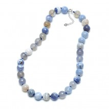 Aobei Pearl - 12mm Natural agate necklace women necklace,leather necklace,ETS-S387