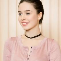 Aobei Pearl - Black velvet pearl choker, pearl choker, velvet choker, freshwater pearl choker necklace, ETS - S596