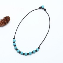 ETS-S668 fashion new design turquoise necklaces handmade necklaces
