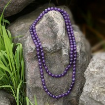 Aobei Pearl, Handmade Knots Necklace made of 10 mm Natural Stones, ETS-S766