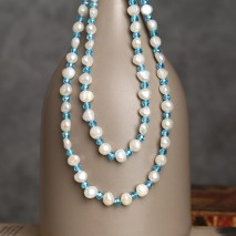 Aobei Pearl --- Handmade Necklace in Crystals & Pearls for Beautiful Girls ! Pearl Necklace, ETS-S815