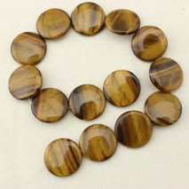 1 string of about 14 pcs, 28mm round natural tiger eye stone,loose beads,natural loose beads,wholesale beads for jewelry,natural stone supplies,ETS-T109