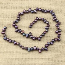 Aobei Pearl, ETS-Z108   Long 37cm diameter 4-5MM rice deep burgundy pearls