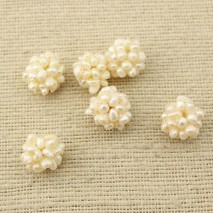 Aobei Pearl, 5 Pieces from the Sale, White Baroque Pearl Ball with Diameter 17 mm, Pearl Accessory, ETS-Z109
