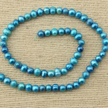 ETS -Z121   A length of 37cm diameter 5-6MM blue potato pearl