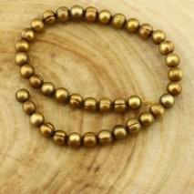 10-11 mm bronze potato freshwater pearl strands ;pearl jewelry;necklace pearl beads; ETS-Z132