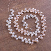 6-7mm rice white and pink pearls mixed wear pearl strand for necklace making,pearl strand jewelry,necklace pearl,pearl necklace,natural beads supplier,ETS-Z148