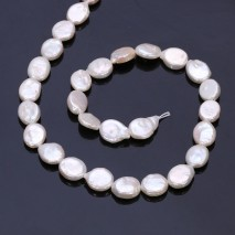 Aobei Pearl, 1 Strand from the Sale, Oval Shape Cultured Freswhater Pearls for Jewelry Making, Jewelry Findings, ETS-Z224