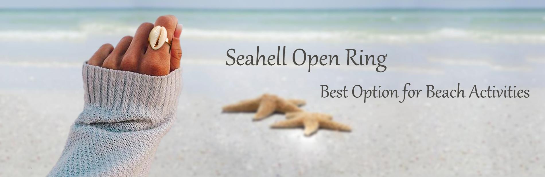 Aobei Pearl Seashell Open Ring